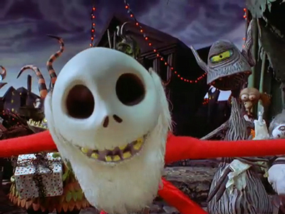 Jack Skellington as Sandy Claws