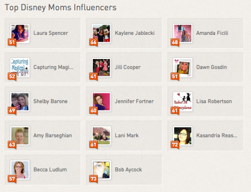 Disney Moms Klout Influencers