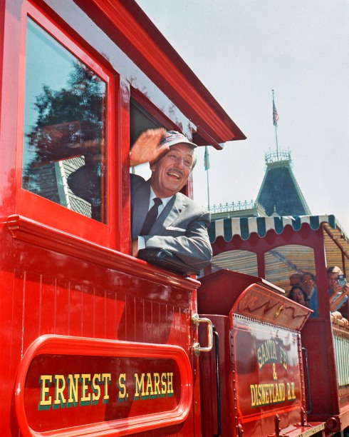 Walt Disney Aboard Disneyland Railroad