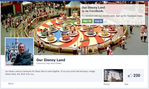 Our Disney Land is on Facebook