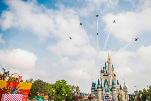 U.S. Navy Blue Angels Soar Above Cinderella Castle at Walt Disney WorldÊResort