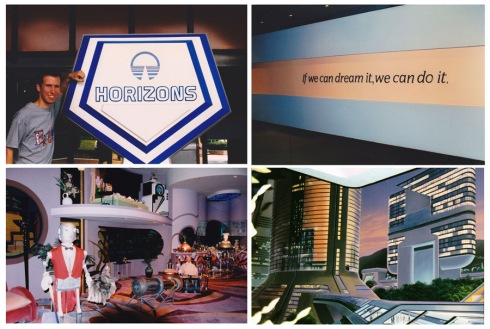 Horizons at Epcot, 1998-1999. Photos by Steven Miller.